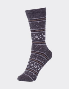 Pattent Goods Misty Dove Socks - Gray