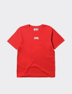 Izzue Red Basic Woven Label T-Shirt