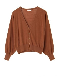 Earth, Music & Ecology by Stripe Japan Aoi Cardigan - Camel