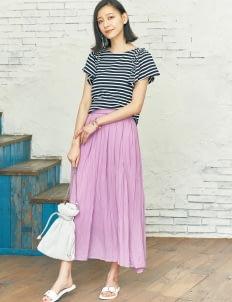 Earth, Music & Ecology by Stripe Japan Yuri Skirt - Lavender