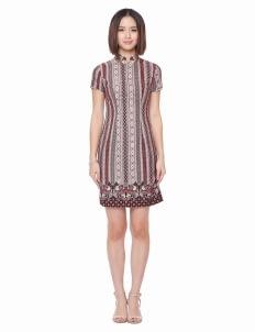 Mandarin Peony Cheongsam Atika Dress - Red