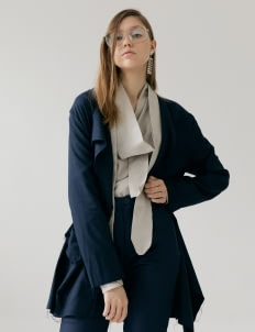 ATS THE LABEL Laurabas Outwear - Navy