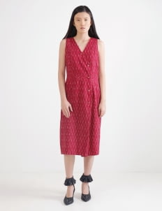 IKAT Indonesia by Didiet Maulana Rhea Dress - Maroon