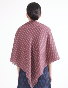 IKAT Indonesia by Didiet Maulana Milani Scarf - Maroon