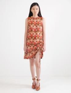 IKAT Indonesia by Didiet Maulana Lalita Dress - Maroon