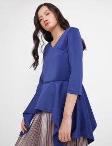 Seam Colette Flare Top - Peacock Blue