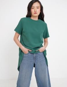 Seam Margo Handkerchief Top - Emerald Green