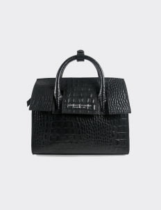 Aesthetic Pleasure Mini Isolation Croc Bag - Black
