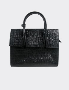 Aesthetic Pleasure Isolation Croc Bag  - Black