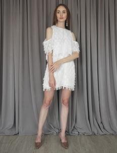 Cara Woman Swan Dress - White