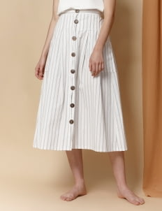 Morningsol Sargon Stripe Skirt - White