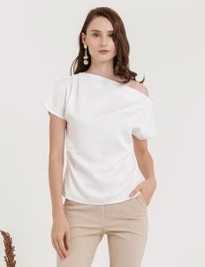 CLOTH INC Sabina One Shoulder Top -  White