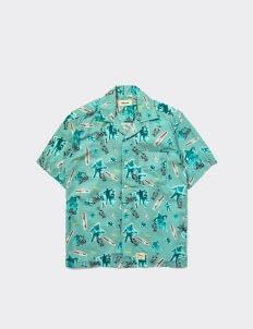 Shipyard Sunday Shirt - Turqoise Print