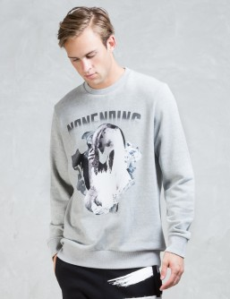 NONAGON Skull Collage Graphic Sweatshirt