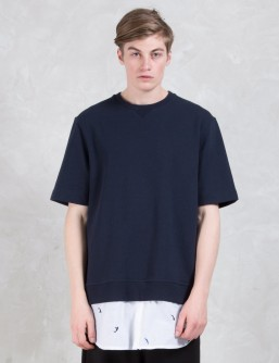 Munsoo Kwon Layered S/S Sweatshirt