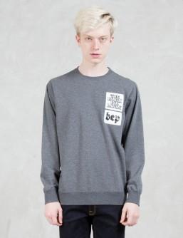 BlackEyePatch Sticker Sweatshirt