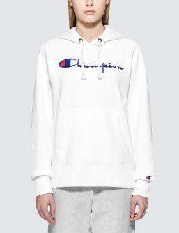 Champion Reverse Weave Classic Logo Chest Hoodie