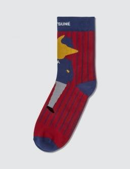 MAISON KITSUNE Ader Error x Maison Kitsuné Jacquard Fox Socks