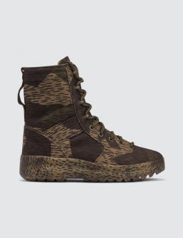 Yeezy Season 6 Military Boot In Washed Canvas