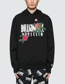 Billionaire Boys Club Embroidered Floral Popover Hoodie