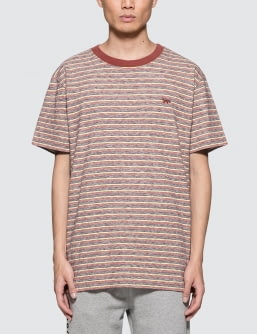 MAISON KITSUNE Surf Stripes S/S T-shirt