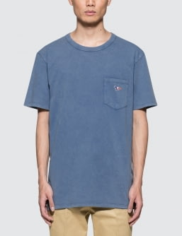 MAISON KITSUNE Tricolor Fox Patch S/S T-shirt