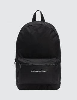 MKI Black Logo Backpack