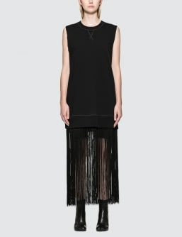 MM6 Maison Margiela Fringe Sleeveless Sweatshirt