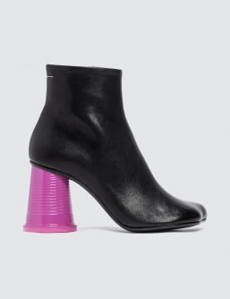 MM6 Maison Margiela Color-block Cup Heel Ankle Boots