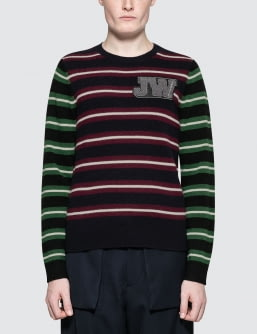J.W.Anderson Logo Patch Stripe Jumper