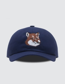 MAISON KITSUNE Par Rec Cap 6p Large Fox Head Embroidery