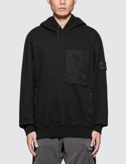Stone Island Shadow Project Hooded Velcro Fastened Sweatshirt