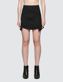 McQ Alexander McQueen Short Cut Up Zip Skirt