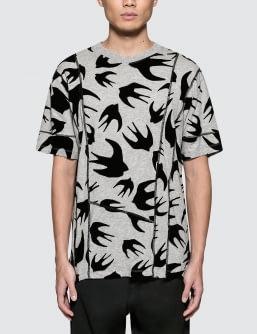 McQ Alexander McQueen Cut Up Coverlock S/S T-Shirt