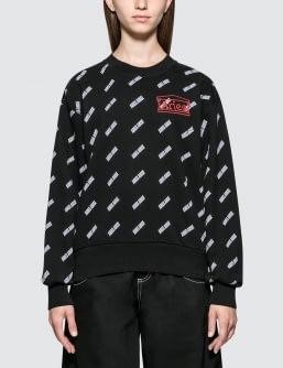 Aries Arise Allover Logo Sweatshirt
