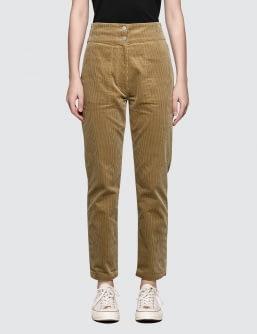 MAISON KITSUNE Corduroy Henrie High Waisted Pants