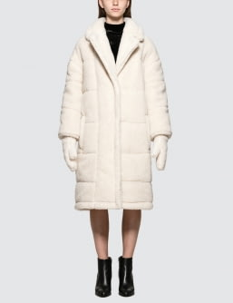 SJYP Sherpa Long Coat With Gloves