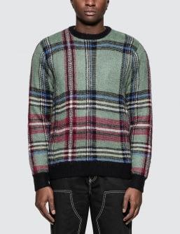 Stussy Plaid Mohair Sweatshirt