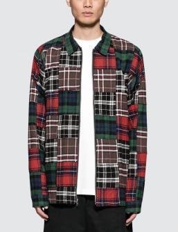 Stussy Patchwork Zip Up L/S Shirt