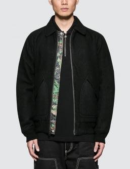 Stussy Boiled Wool Reversible Bomber Jacket