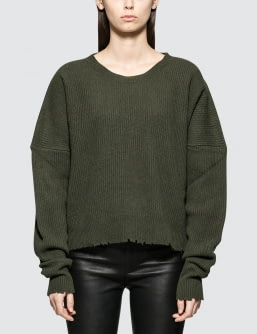 Unravel Project Rib Oversize Chopped Crew