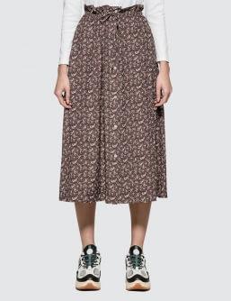 MAISON KITSUNE All-over Flower Paige Long Skirt