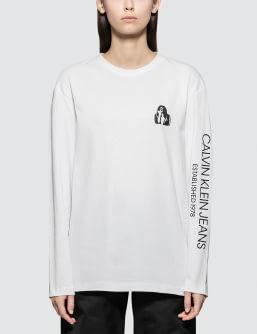 Calvin Klein Jeans Est. 1978 Modernist Logo Long Sleeve T-shirt