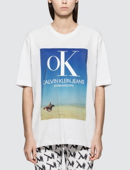 Calvin Klein Jeans Est. 1978 Ok Logo Landscape Print Short Sleeve T-shirt