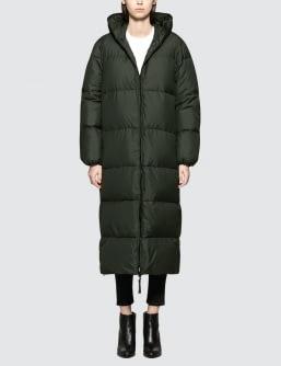 KATHARINE HAMNETT Duvetica X  Full Length Oversized Puffa Coat With Love Slogan