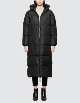 KATHARINE HAMNETT Duvetica X  Full Length Oversised Puffa Coat With Love Slogan