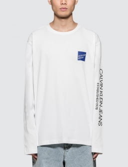 Calvin Klein Jeans Est. 1978 Modernist Stars Logo L/S T-Shirt