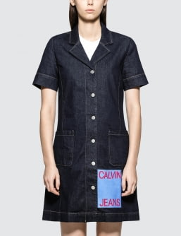 CALVIN KLEIN JEANS Waitress Logo Dress