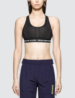 Calvin Klein Performance Racerback Bra Top With Middle Color Panel