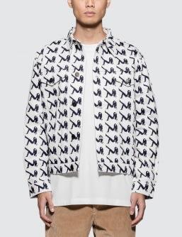 Calvin Klein Jeans Est. 1978 Allover Icon Printed Trucker Jacket